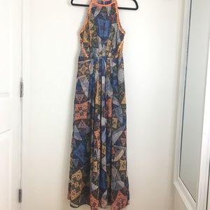 Ranna Gill Anthropologie patchwork dress size M